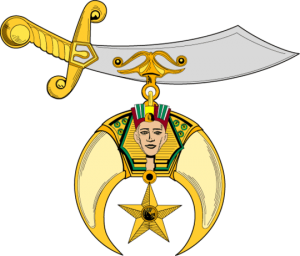 Logo of the Freemasonic Shriners, Egyptian Worshippers of Allah