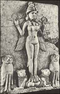 Babylonian-Mother-Goddess-Lilith-Owls