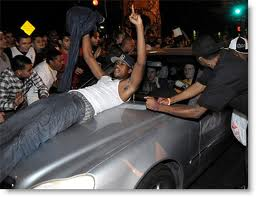 Savage Black Rioters in Los Angeles after Lakers Win Basketball Championship, 2010