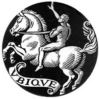 "CFR Logo White Horse Rider (Revelation 6:1-2); Latin ""UBIQUE;"" English ""Ubiquitous;"" ""Universal Rule"" of the Risen Pope turned Man-Beast/Antichrist"