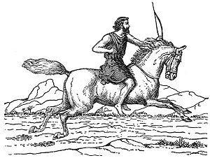 Cartoon-First-Horseman-White-Horse