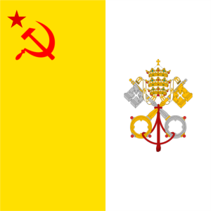 Flag (nonexistant but true) of Socialist-Communist Vatican City