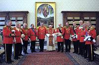 Grand Master Matthew Festing Next to Pope Benedict XVI with Brother Knights, Rome, 2010