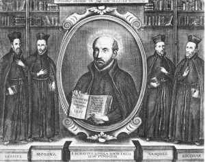 Jesuit Superior General Ignatius Loyola with His Immoral Theologians Justifying Regicide, 1540s