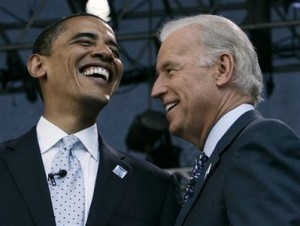 Barry Davis Obama and Jesuit Joe Biden, Chicago, 2008