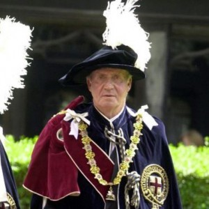 "King Juan Carlos, Order of the Garter, Custodian of the Two Jerusalem Mosques, ""King of Jerusalem,"" One of the Pope's Masters of the Mossad, 2000"