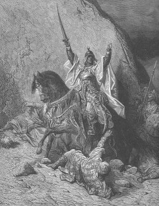 Saladin taking Jerusalem, 1187