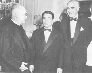 Cardinal Spellman, Vietnamese President Diem, Knight of Malta Henry R. Luce, 1961