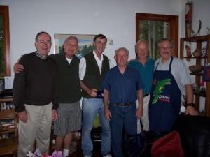 Steve Sundborg SJ, Frank Munns, Don Foran SJ, Greg Galluzzo SJ, Pat Howell SJ, Rick Markov 2007