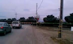 Over 100 Tanks on Railroad Cars heading south, Santa Cruz, California, 19 January 2012