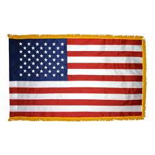 Military Colors: US Flag; Three-sided Gold Fringe; Flag of Every Federal and State Court exercising IN PERSONAM jurisdiction over Artificial Martial/Commercial Person