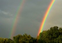 Double-Rainbow Illustrating the Law of Double Reference