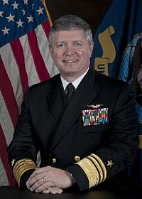 Vice Admiral Gerald R. Beaman, Commander of the US Third Fleet, 21 April 2011