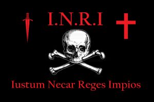 "I.N.R.I.: ""It is just to kill impius (Anti-Pope) kings""---Like Oliver Cromwell, King Umberto I, Czars Alexander I & II and President John F. Kennedy!"