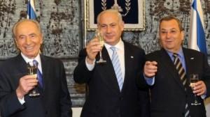 Pope's Masonic Jewish Labor Zionists: Shimon Peres, Benjamin Netanyahu and Ehud Barak, 2010
