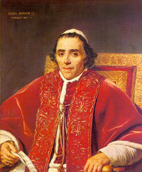 Pope Pius VII: Rescued by King George III from Napoleon; Returned to the Vatican, 1814
