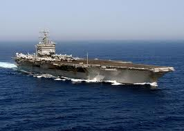 USS Enterprise underway in Atlantic to Persian Gulf, 2012